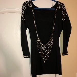 Open Back Pearl Dress